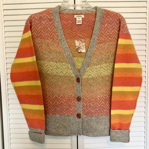 Sundance Multicolor stripe Lambswool Cardigan